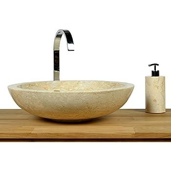 Waschbecken rund stein  DIVERO Designbecken Marmor Naturstein Aufsatz-Waschbecken Venedig ...