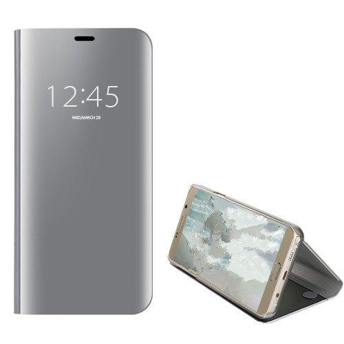 Funda® Spiegel Überzug Flip Hülle für Huawei Honor Note 10 (Silber)