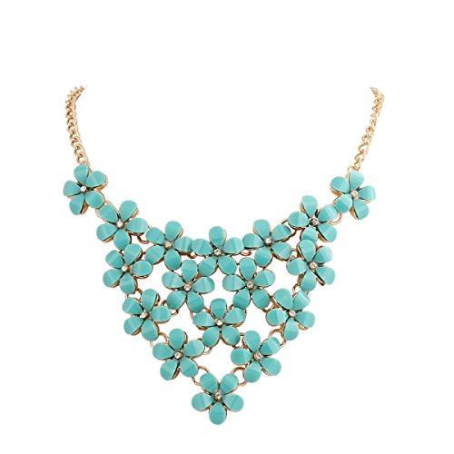 Flash Européens Et Américains Bijoux En Alliage Collier De Fleur De Diamant green