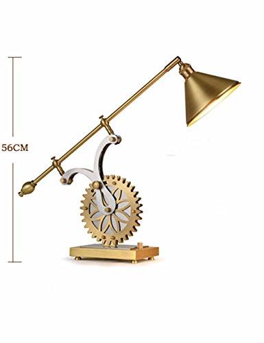 CJSHV-amerikanische stil stoff kupfer lampe, europäischen stil, luxus - kupfer - lampe, kreative wohnzimmer, schreibtisch, büro - lampe,linke schwächer