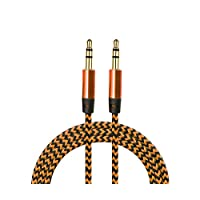 Diwu K513.005 AUX Stereo Data Ses Örgü Kablo, 3.5mm, Bakır