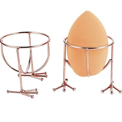 TOOGOO Support pour éponge à Maquillage Support D'éponge D'?uf Support D'Affichage De Houppe à Poudre Support De Séchage (éponge Non Compris),2 Pièces, Or Rose