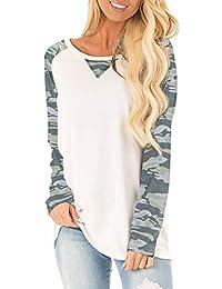 Dasbayla Women's Casual Tops Long/Short Sleeve Crew Neck Pullover Sweatshirts