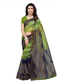 Indian Fashionista Women's Kota Dorie Printed Saree with Blouse Piece (NM-KOTADORIE-KD35_Free Size_Green)