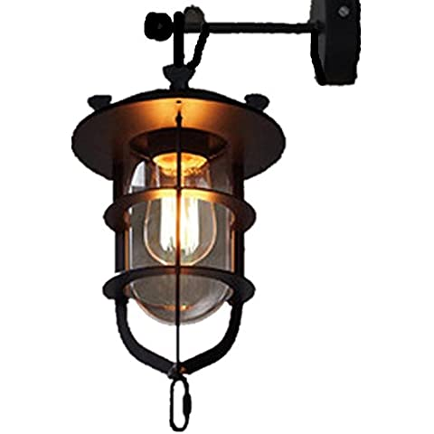 FWEF cristal botón solo cabeza pared luz pétalo luz Retro Industrial viento pared luz creativa Vintage pared lámpara corredor exposición dormitorios salón-comedor iluminación 40 * 25cm