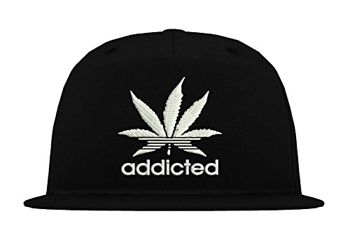Ink Kid Cap (5-Panel Snapback Cap Modell ADDICTED, Weiß-Schwarz, B610)