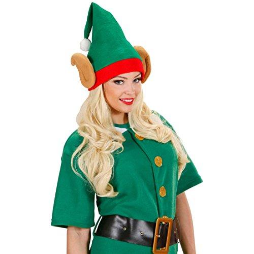 Cappello gnomo con orecchie a punta copricapo elfo accessorio costume nano aiutante di Babbo Natale