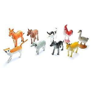 Gifts 4 All Occasions Limited SHATCHI-87 12 Mini granja granja granero patio figuras de animales fiesta Goody Loot Bag relleno Favor Supply, Multi