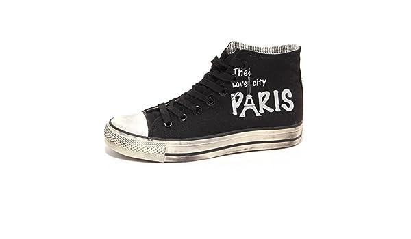 66988 Sneaker 2 Étoiles Impression Homme Chaussures Paris Femme Chaussures Unisexes [39] meilleur magasin de vente qualité supérieure braderie en ligne 912V5YvwB5