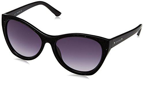 Swarovski sk0108-5901b, occhiali da sole donna, nero (shiny black), 59