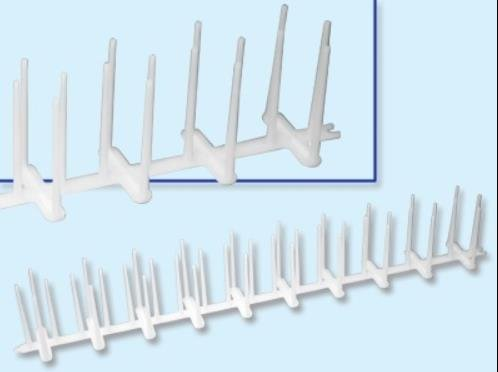 5 Dissuasori per piccioni con base polietilene PVC da 50cm