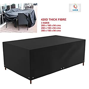 41OnoSIHD2L. SS300  - Waterproof Patio Furniture Table Chair Sofa Cover Outdoor Garden Rectangle 420D (Large rectangle cover)
