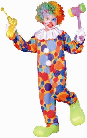 RG Kost-me 90202-S Polka Dots Clown Kost-m - Gr--e Child-Small