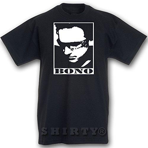 U2 Bono 2 - T Shirt - schwarz - S bis 5XL - 033 Schwarz