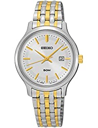 Seiko Damen-Armbanduhr Quarz Analog Edelstahl beschichtet SUR793P1
