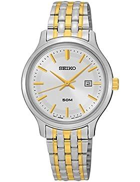 Seiko Damen-Armbanduhr Analog Quarz Edelstahl SUR793P1
