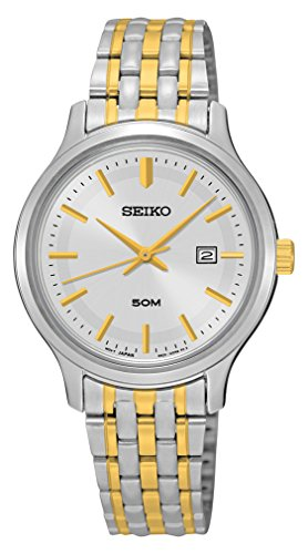 Seiko Women's Quartz Watch with Silver Dial Analogue Display and Multicolour Stainless Steel Bracelet SUR793P1