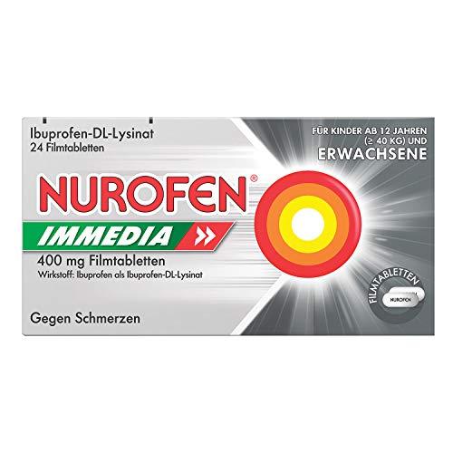 Nurofen 200mg Schmelztabletten Mint - Ibuprofen Schmelztablette mit Mint Geschmack bei Schmerzen und Fieber - Zergeht auf der Zunge - 1 Packung mit je 24 Stück