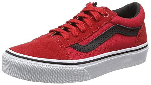 Vans Old Skool, Baskets Basses Mixte Enfant, Rouge (C&P Racing Red/Black), 35 EU