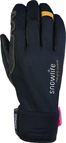 Snowlife Skihandschuhe Damen 3D-Schnitt, Gore Windstoper-Membrane, extra weiche Leder-Innenhand, super atmungsaktiv und schnelltrocknendes...