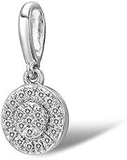 Diamond Pendant for Women - for Her 0.052 Carat 14K White Gold Pendant with White Diamond for Women