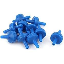 sourcingmap luftpumpenrückschlagventil Kunststoff Aquarium Air Pumpe Rückschlagventil, blau, 10-TLG.