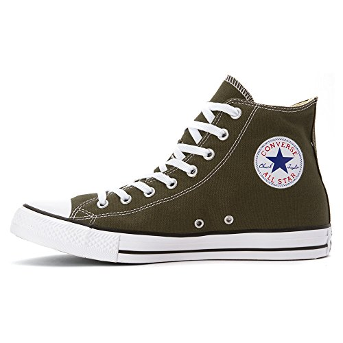 Converse All Star Hi Canvas, Sneaker, Unisex - Adulto HERBAL WHITE BLACK