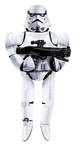 amscan Anagram 3040101 - Folienballon Airwalker, Disney Star Wars, Stormtrooper, 83 x 177 cm