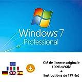 MS Windows 7 Pro 32 Bits & 64 Bits - Clé de Licence Originale par Postale et E-Mail + Instructions de TPFNet® - Livraison Maximum 60min...