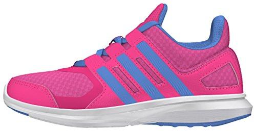 adidas Unisex-Kinder Hyperfast 2.0 K Laufschuhe Pink (pink/Blau/Weiß)