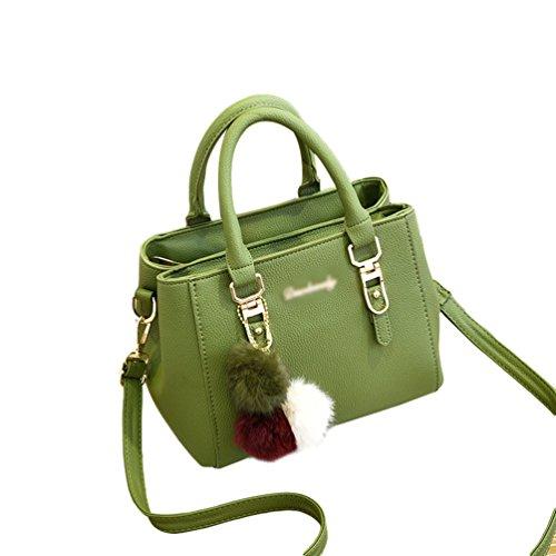 beef5c8faa512 Baymate Mode Handtaschen Henkeltaschen Elegante Umhängetasche für Damen  Schultertasche Crossbody Tasche Grün. Obermaterial  PU-Leder ...