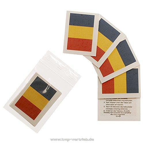 10 x Rumänien Tattoo Fan Fahnen Set - Romania temporary tattoo Flag (10)