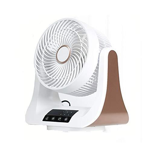CONRAL 220V elektrische drahtlose Fernbedienung Tischventilatoren, drehbare Luftumwälzstand-Standventilatoren, 3 Geschwindigkeitsstufen, 10h Timer, LED-Berührungssteuerung, super leise, weiß