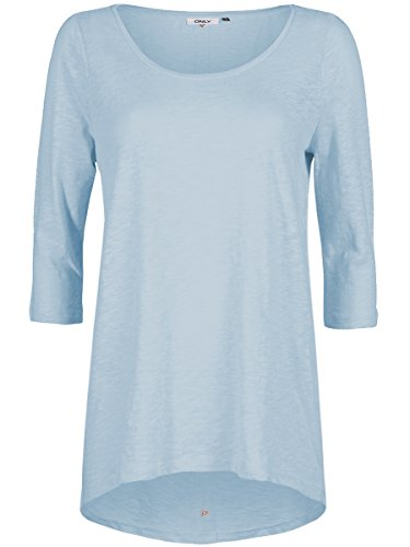 Only Onlcasa 3/4 Button Top Jrs Noos, T-Shirt Femme Bleu (Cashmere Blue)