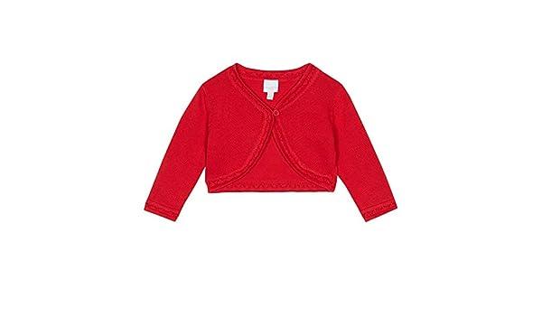 1afd555ea bluezoo Kids Baby Girl s Red Scalloped Cardigan  bluezoo  Amazon.co ...