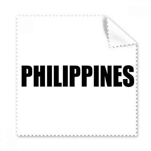 DIYthinker Philippinen Land Name Schwarz Brille Tuch Reinigungstuch Telefon Screen Cleaner 5Pcs Geschenk
