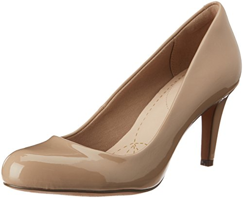 Clarks Carlita Cove Damen Pumps, Beige (Sand Patent), 39 EU (5.5 Damen UK)