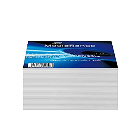 MediaRange 100-Pack CD Paper Sleeves with Window and Adhesive Flap