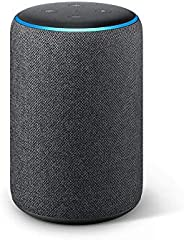 Echo Plus (2nd Gen), Certified Refurbished, Black – Premium sound with a built-in smart home hub – Like new, b