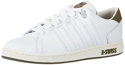 K-Swiss Herren Lozan III TT Sneaker, Weiß(White/Dark Olive), 40 EU