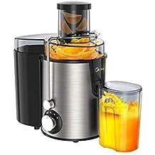 Exprimidor eléctrico Big Mouth Juice Extractor, 250 vatios, Exprimidor silencioso y Prensa fría con