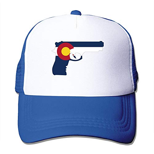 LUPNZ AKANT Gun Decals Colorado State Flag Mesh Unisex Adult-one Size Snapback Trucker Hats Royalblue - Colorado Decals
