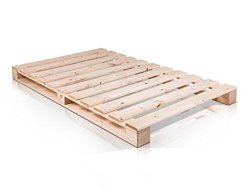 PALETTI Massivholzbett Holzbett Palettenbett Bett aus Paletten 90 ...