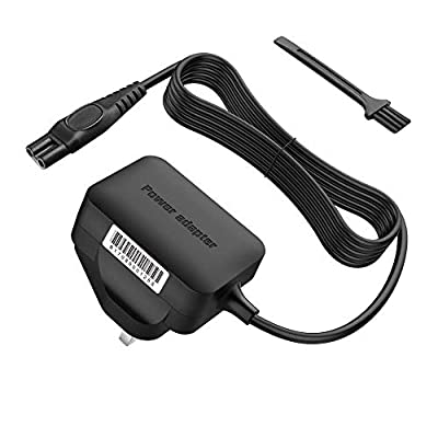 BERLS Charging Lead Razor Charger 15V Philips Power Adapter for Philips Shaver Series 3000/5000/7000/9000 Norelco QG, BG, HQ, RQ, XL, XLCC, X, HS, QC, QS, PT Series