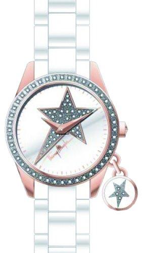 Thierry Mugler - 4714204 - Montre Femme - Quartz Analogique - Cadran Argent - Bracelet Plastique Blanc