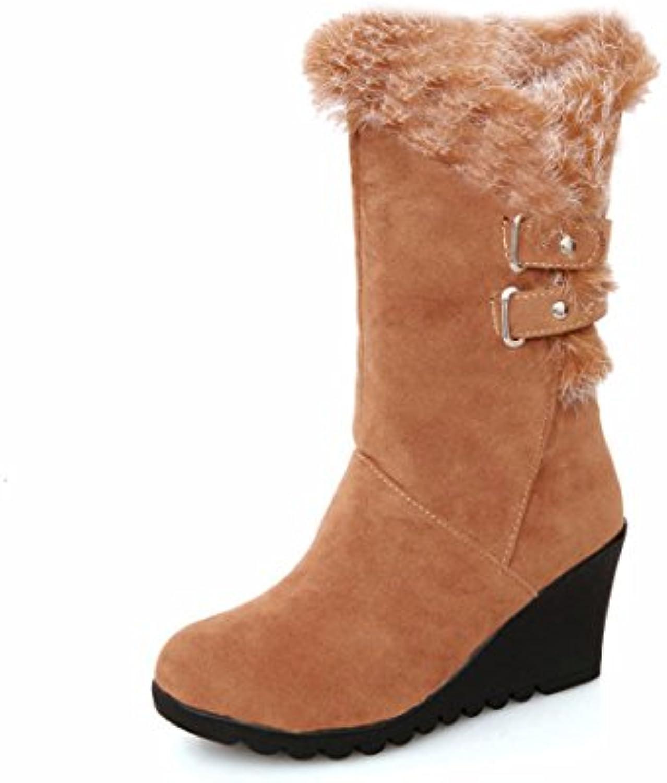 RFF-Femme's Shoes Wedge Wedge Shoes Heel, Cotton Boots, Medium Boots, Warm Winter BootsB075VTRC8NParent 56b95a
