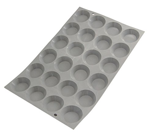 De Buyer 1853.01D 'Elastomoule' Mini Tartlettes - 24 empreintes Ø 4,5 cm ht. 1,1 cm