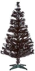 Idea Regalo - Autour de Minuit Las Vegas - Albero di Natale a Fibre Ottiche con 125LED, 120cm Nero/Bianco