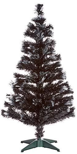 Autour de Minuit Las Vegas - Albero di Natale a Fibre Ottiche con 125LED, 120cm Nero/Bianco