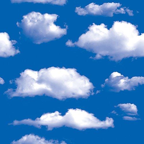 Blue Sky Clouds - Papel de contacto autoadhesivo, vinilo extraíble para decoración de cocina, salpicadero, manualidades, 45 x 117 cm